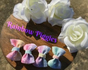 Rainbow Piggies, Multicolor, Hairbows