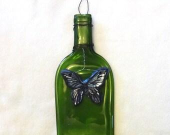 Blue butterfly bottle