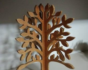 Handmade wooden 3d tree