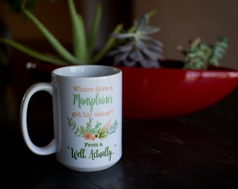 Mansplainer get his water coffee cup mug 15oz.