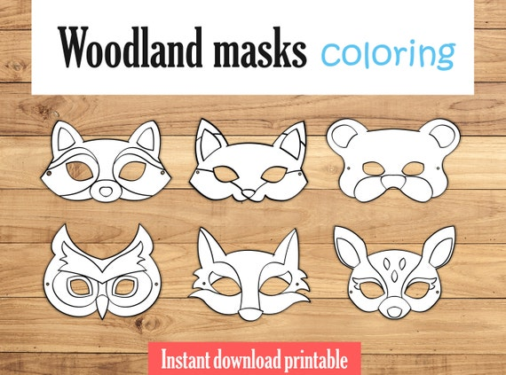 Fox Mask Wolf Animal Masks Party Printable
