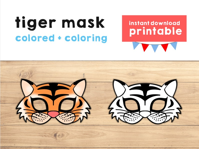 photograph regarding Tiger Mask Printable titled Tiger mask printable Tiger dress mask Tiger social gathering Jungle Animal mask Jungle Get together choose Animal Printable mask - Immediate Obtain