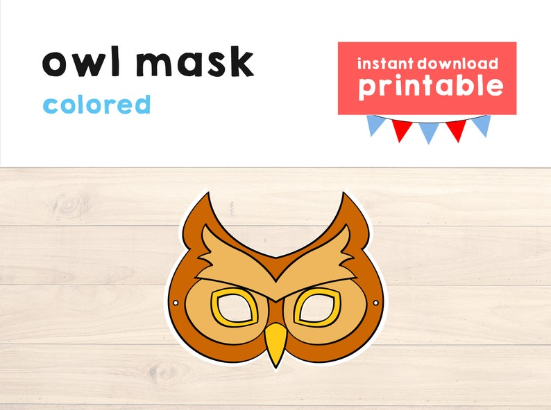 image about Printable Owl Mask titled Owl gown Owl mask Animal mask printable Owl printable Owl occasion Animal printable mask Woodland mask Animal occasion - Quick Obtain