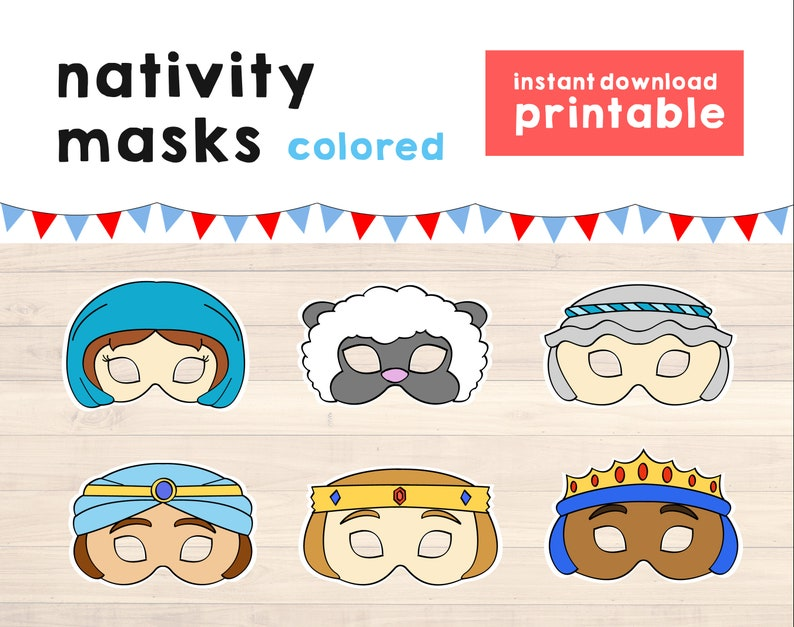 picture relating to Nativity Printable named Nativity Printables young children, Nativity enjoy small children Masks, Nativity Masks little ones - Nativity Youngsters Recreation - College or university Perform Printable - Instantaneous Down load