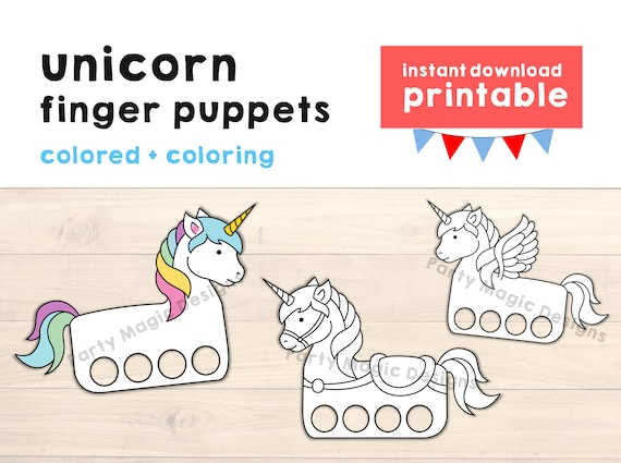 photograph about Printable Crafts for Kids known as Unicorn paper craft printable Finger Puppet Young children Craft Unicorn Birthday Get together Craft Youngsters Coloring Unicorn Puppet Printable Instantaneous Obtain