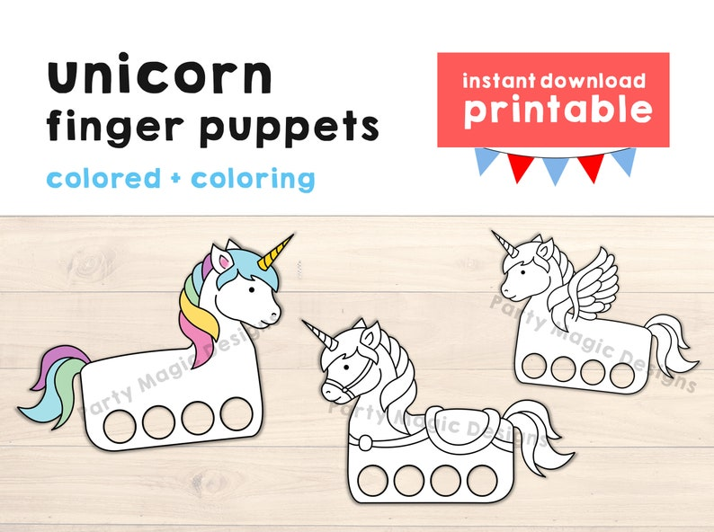 image about Printable Craft for Kids referred to as Unicorn paper craft printable Finger Puppet Young children Craft Unicorn Birthday Celebration Craft Little ones Coloring Unicorn Puppet Printable Immediate Obtain