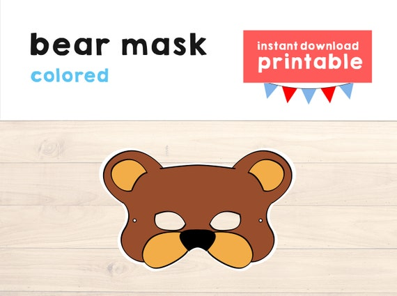 image relating to Printable Bear Mask referred to as Undergo dress Animal Mask Do-it-yourself Craft Children - Go through mask - Go through Celebration - Animal Printable Mask - Animal Celebration - Woodland Social gathering - Quick Down load