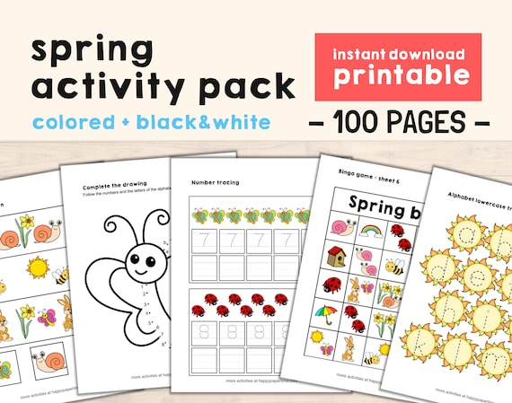 Spring Activity Worksheets printable kids  Coloring pages do