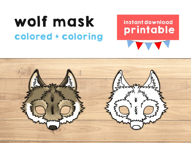 photograph about Wolf Printable named Wolf mask Woodland mask Animal mask Social gathering Prefer Wolf printable Woodland printable Animal Social gathering prop Woodland Animal Printable Mask