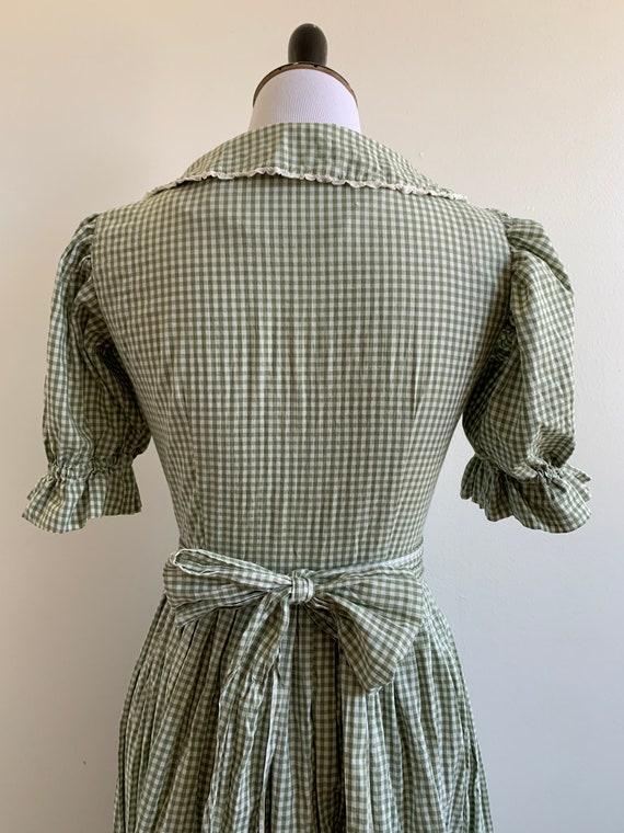 Vintage Handmade Gingham Prairie dress, xs-sm - image 7