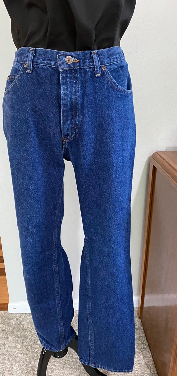 1980s Dark Wash High Waist Lee Jeans/32 Inch Waist