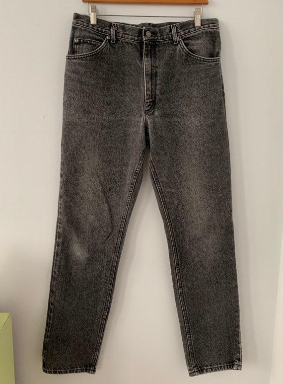 "1980s Acid Wash Lee Riders High Waist Jeans, W 34"""
