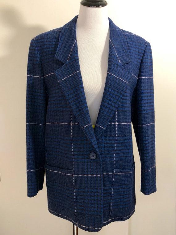Wool Boxy Pendelton Blazer, M-L
