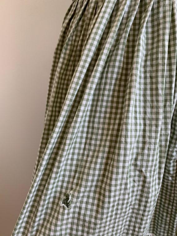 Vintage Handmade Gingham Prairie dress, xs-sm - image 8
