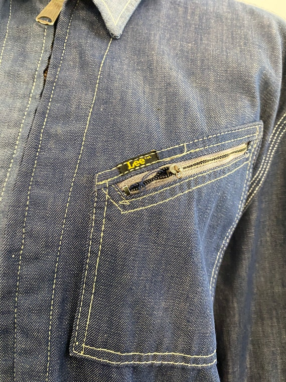 Super Distressed 1970s Lee Soft Denim Jacket - image 9