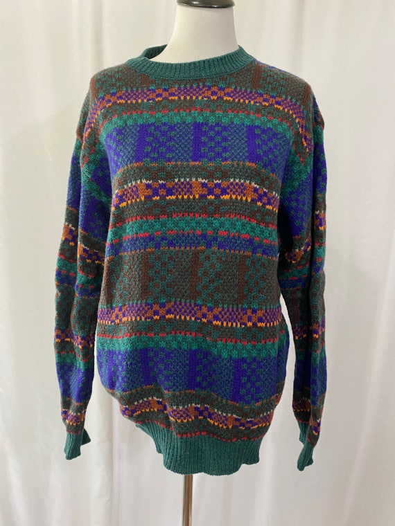 1990s Colorful United Colors of Benetton Shetland