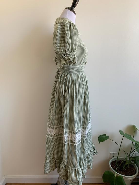 Vintage Handmade Gingham Prairie dress, xs-sm - image 5
