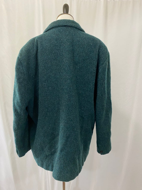Deep Green Wool and Mohair Oversized Woolrich Bla… - image 2