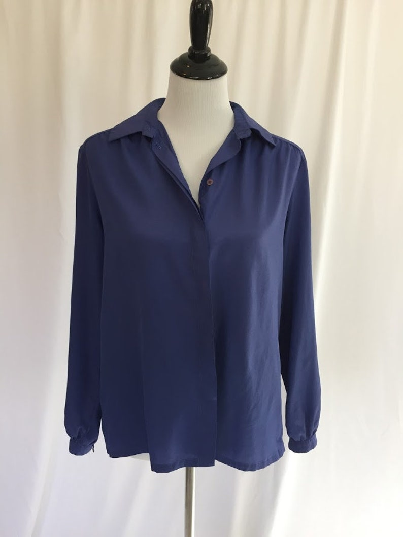 Vintage Purple Blouse//Billowy Blouse//Country Sophisticate by image 0
