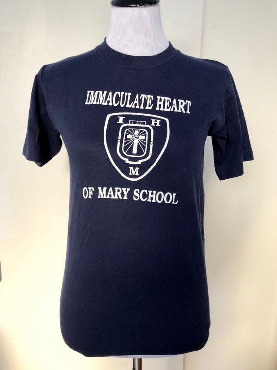 Immaculate Heart of Mary School Vintage Tee, Sm