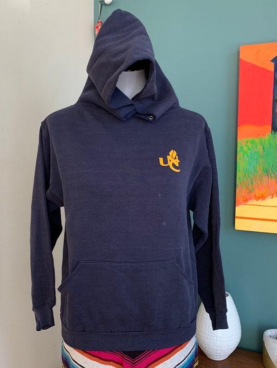 Vintage 1970s UNC Hoodie Navy Sweatshirt, Sm-M