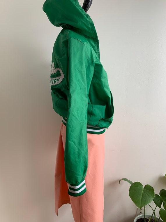Vintage Green Track Hoodie, xs-m - image 4
