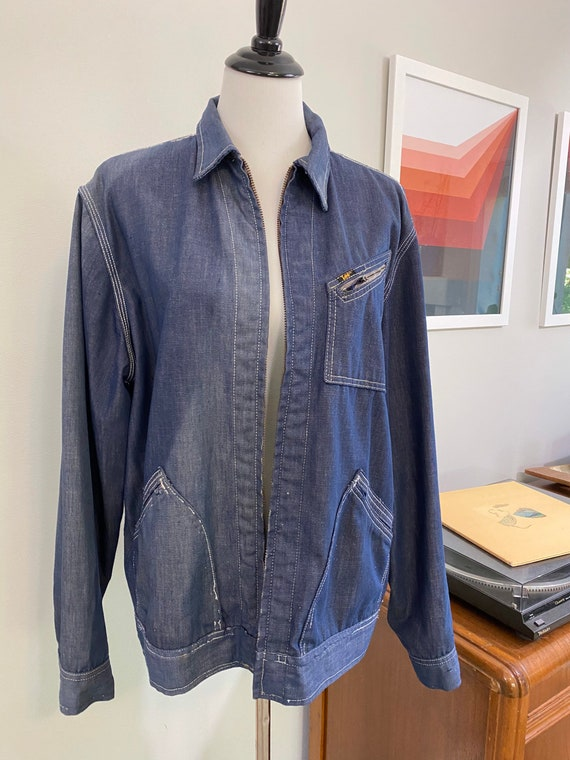 Super Distressed 1970s Lee Soft Denim Jacket - image 2