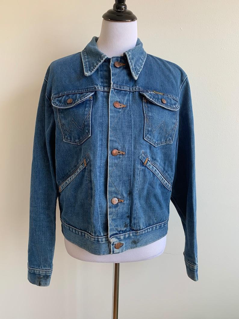 m-xl Vintage Wrangler Jean Jacket