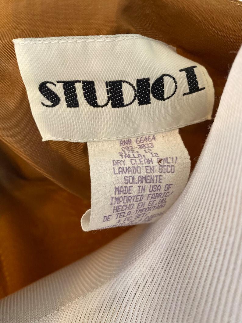 1990s Brown Houndstooth Studio I Annie Hall BlazerSize 12