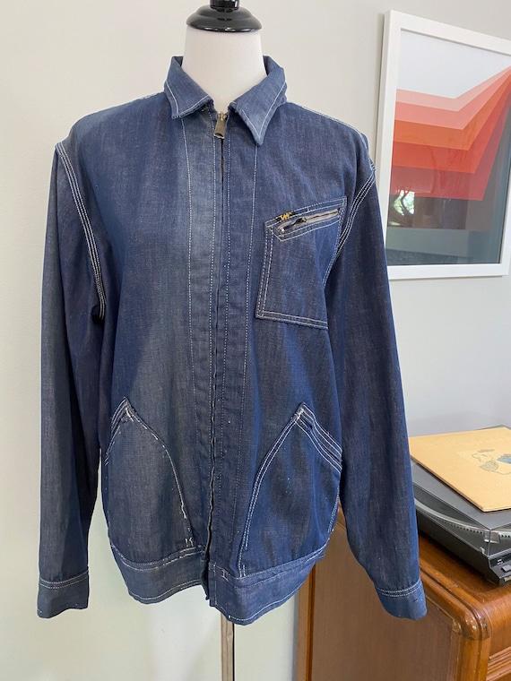 Super Distressed 1970s Lee Soft Denim Jacket - image 1