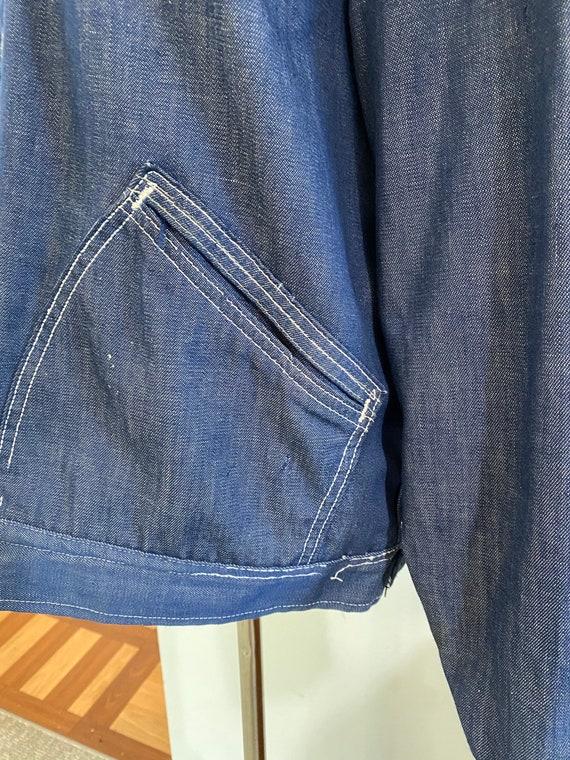 Super Distressed 1970s Lee Soft Denim Jacket - image 8