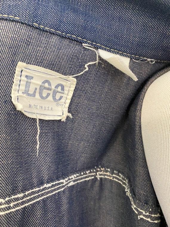Super Distressed 1970s Lee Soft Denim Jacket - image 10