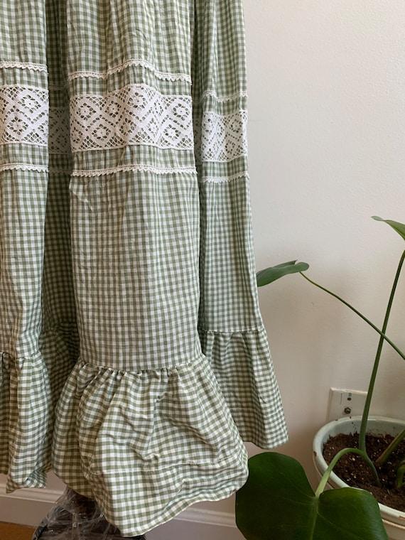 Vintage Handmade Gingham Prairie dress, xs-sm - image 9