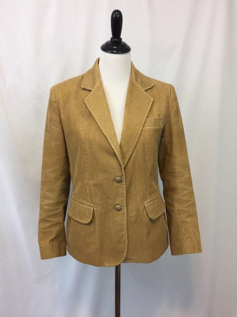 Vintage Tan Corduroy Blazer/1970s Blazer image 0