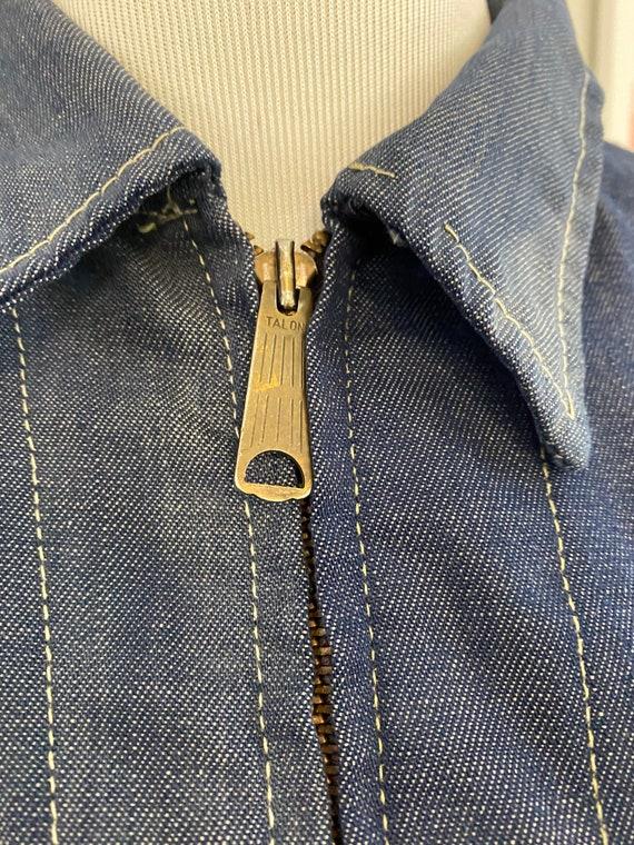 Super Distressed 1970s Lee Soft Denim Jacket - image 5
