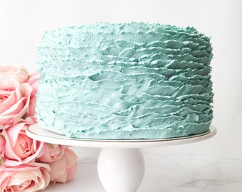 Ruffled Textured Icing Prop Cake