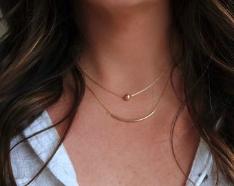 14k Gold Dainty Layers