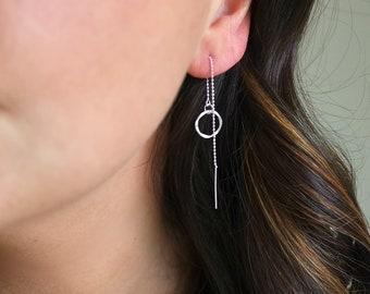 Sterling Silver Threader Earring