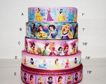 "1 Spool Disney Princess Blue Rhinestone Acrylic Trim Ribbon 7//16/""W"