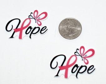 Hope Breast Cancer Awareness Resin 2 pieces per Set