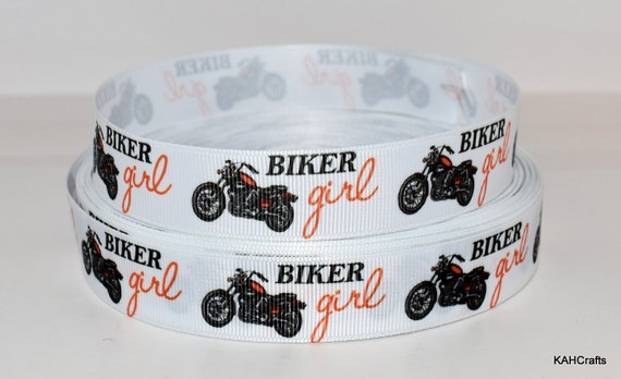 "2/"" HARLEY DAVIDSON MOTORCYCLE GROSGRAIN RIBBON BY THE YARD USA SELLER"
