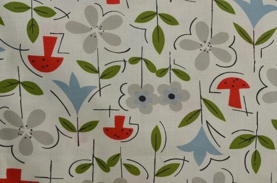 Tissu Home vintage, rétro imprimé Floral, Home Tissu Decor, Rare Vintage tissu par yard - 1 Yard - VW0092 402fd0