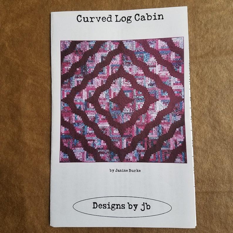 Curved Log Cabin Quilt Pattern, Machine Pieced Strip Quilt, 2
