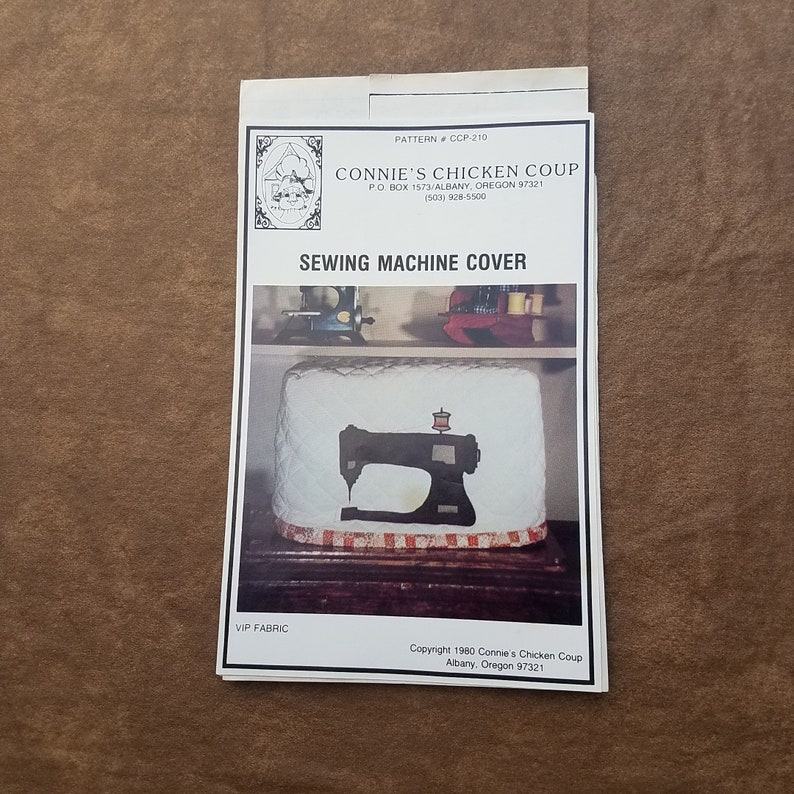Sewing Machine Cover Pattern Sewing Machine Cover by Connies Chicken Coup Vintage Quilt Pattern QP0679