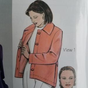 OP0408 Uncut /& Factory Folded Pattern Designer Jacket Pattern Vogue V8620 March Tilton Designer Original