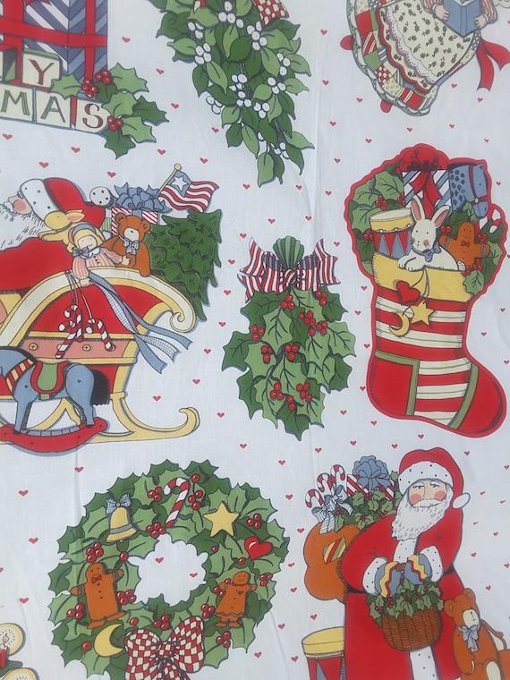 Tissu Susan vintage, Susan Tissu Winget dessins Noël Appliques panneau, en tissu imprimé - panneau - FP0343 86b04e