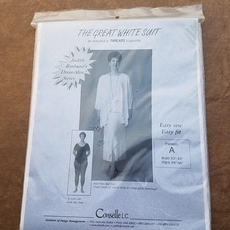 Dress Slim Pattern OP0492 UNCUT Factory Folded Dress Pattern The Great White Suit Judith Rasbands Series
