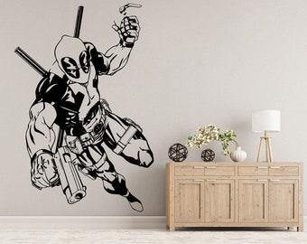 Deadpool Movie Marvel Wall Decal Sticker Bedroom Vinyl Art Decor