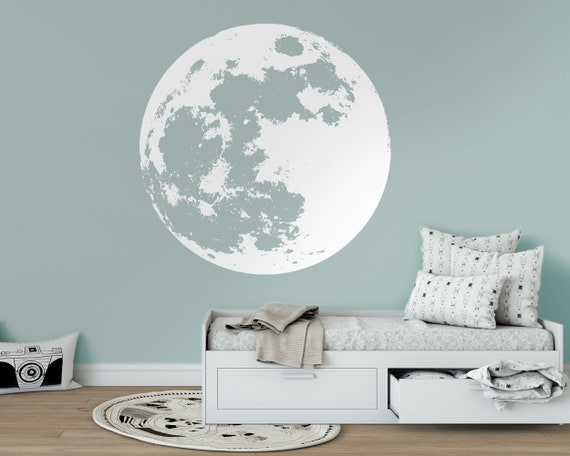 Moon Decal Moon Wall Decal Home Decor Sticker Home Decor | Etsy