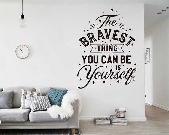 Quote Decals, Wall Decals, Wall Stickers, Decal Quotes, Wall Decor, Wall  Art, Sticker, Wall Mural, Typography, Home Decor, Home Office, Gift